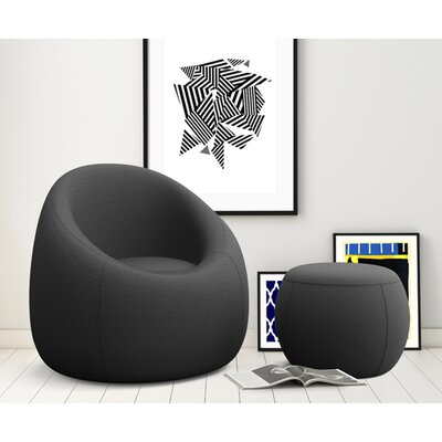 OMO Modern Memory Foam Lounge Chair with ..