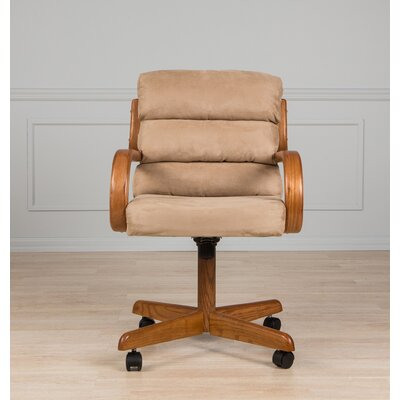 AW Furniture Mid-Back Dining Caster Chair with Arms Image