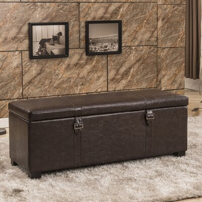 Bellasario Collection Luxury Comfort Classic Buckled Storage Ottoman