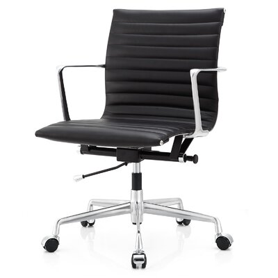 Meelano Mid-Back Leather Desk Chair