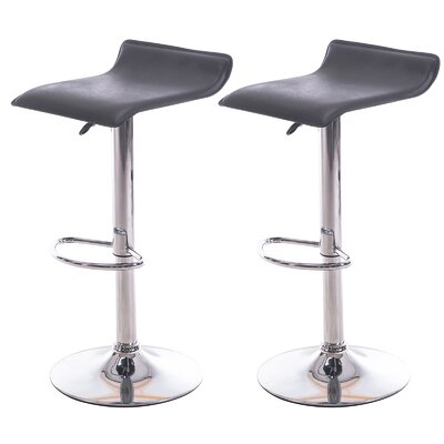 Meelano Adjustable Height Bar Stool (Set of 2)