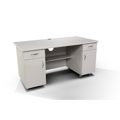 Amcase Commercial Grade Computer Desk with Ample Storage
