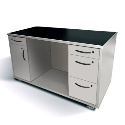 Amcase Commercial Grade Mobile Computer Desk