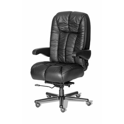 ERA Products Office Chairs Comfort Series Newport Leather/Leathermate Vinyl High-Back Executive Chair