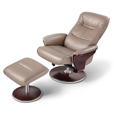 Artiva USA Milano Swivel Recliner and Ottoman