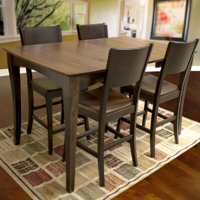 AmeriHome 5 Piece Counter Height Dining Set