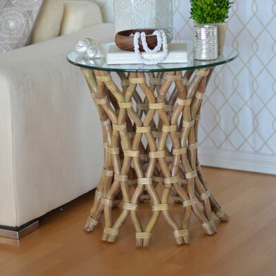 Kouboo Hoop Rattan End Table