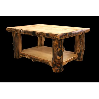 Utah Mountain Aspen Coffee Table with Shelf Image