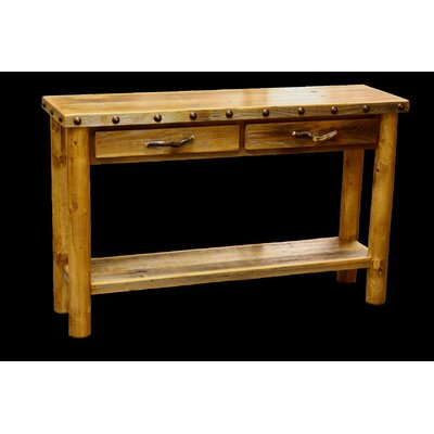 Utah Mountain Barnwood 2 Drawer Console Table