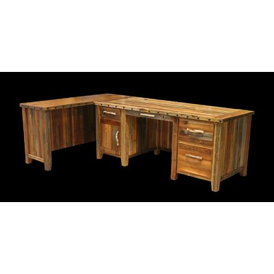 Utah Mountain Barnwood Executive Desk with Left Return