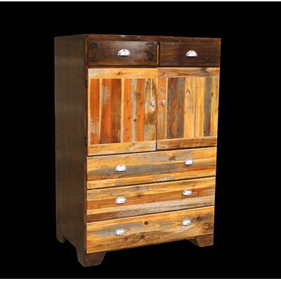 Utah Mountain Urban Rustic Cowboy 5 Drawer Chest