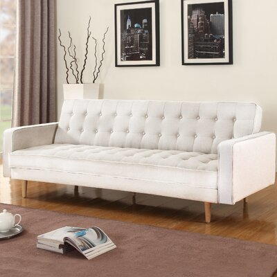 Madison Home USA Mid-Century Modern 2 Tone Sleeper Futon Sofa