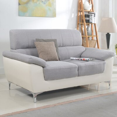 Madison Home USA Modern Two Tone Living Room Loveseat