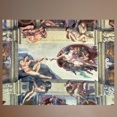 Wallhogs michelangelo creation of adam 1510 poster wall for Creation of adam mural