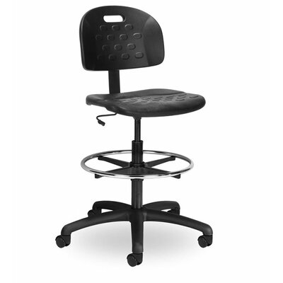 Seating Inc Indy Height Adjustable Drafting Chair with Chrome Foot Ring