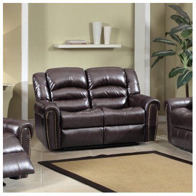 Meridian Furniture USA Nailhead Reclining Loveseat