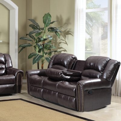 Meridian Furniture USA Nailhead Reclining Sofa