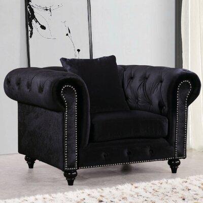 Meridian Furniture USA Chesterfield Velvet Armchair