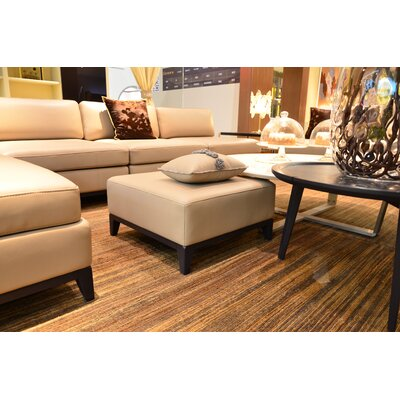 Argo Furniture Lazio Leather Ottoman Image
