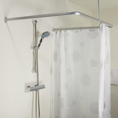 Sealskin Easy Roll 80cm U Shaped Fixed Shower Curtain Rail Reviews Wa