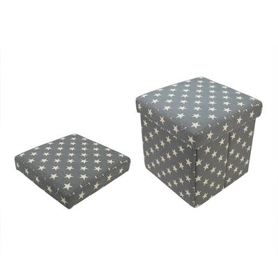 Northlight Seasonal Star Collapsible Square Storage Ottoman