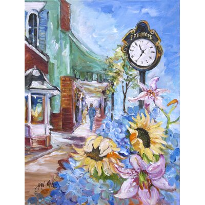 Caroline 39 s treasures fairhope clock 2 sided garden flag for Garden treasures pool clock