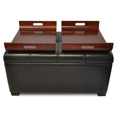 Convenience Concepts Designs 4 Comfort Double Tray Storage Ottoman