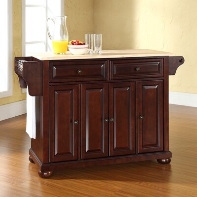 Darby Home Co Pottstown Kitchen Island with Woo..
