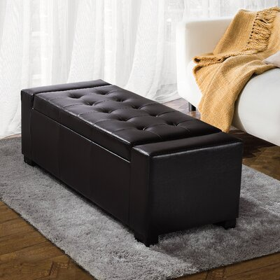 Darby Home Co Marengo Leather Storage Ottoman