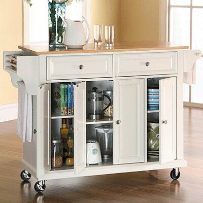 Darby Home Co Headrick Kitchen Cart/Island with ..