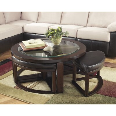 Darby Home Co Eastin 5 Piece Coffee Table & Stool Set