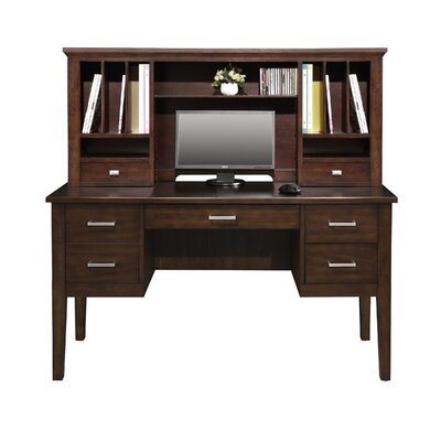 Darby Home Co Desk with Hutch