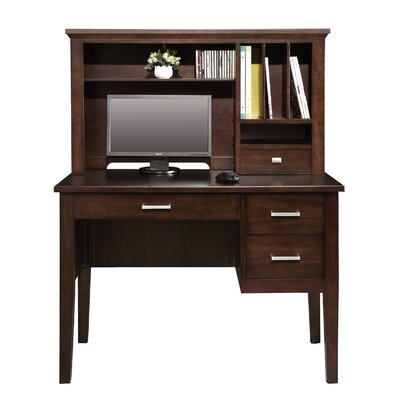 Darby Home Co Computer Desk with Hutch and Keyboard Tray