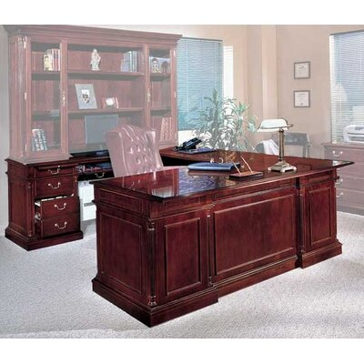 Darby Home Co Prestbury U-Shape Executive Desk with Left Return