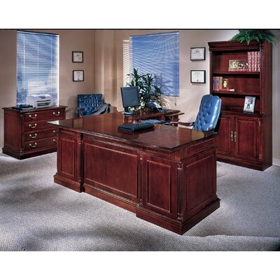 Darby Home Co Leachman 3-PIece U-Shape Executive Desk Office Suite