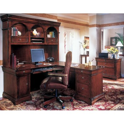 Darby Home Co Knickerbocker 3-Piece L-Shape Executive Desk Office Suite
