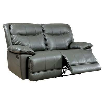 Darby Home Co Reinhart Leather Reclining Loveseat