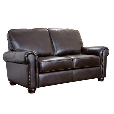 Darby Home Co Coggins Leather Loveseat