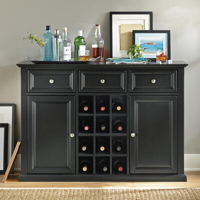 Darby Home Co Pottstown Buffet Server / Sideboard Cabinet with Wine Storage