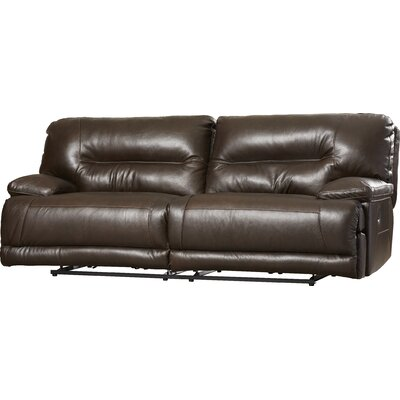Darby Home Co  DBHC5596 Tankersley Leather Reclining Sofa