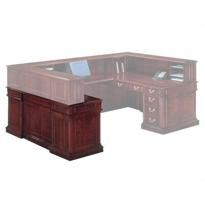 Darby Home Co Prestbury Credenza Desk with Left Single Pedestal