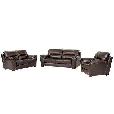 Darby Home Co Pennington 3 Piece Leather Living ..