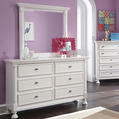 Darby Home Co Jeffersonville 6 Drawer Dresser with Mirror
