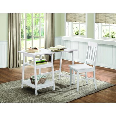 Darby Home Co Kinderhook Writing Desk with Chair