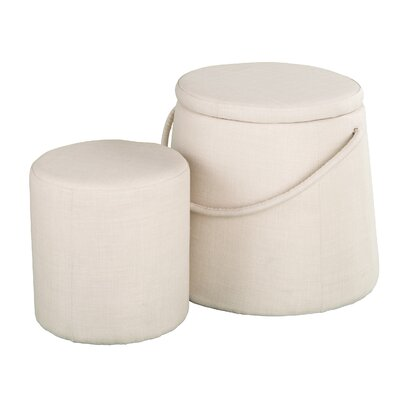 Darby Home Co Columban 2pc Nesting Ottoman Set
