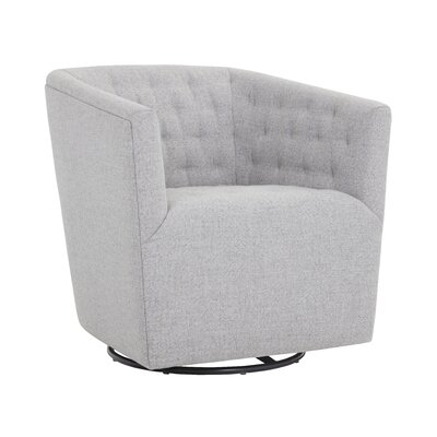 Darby Home Co Cornelius Reeves Swivel Armchair
