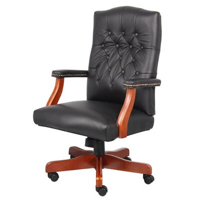 Darby Home Co Norden Adjustable High-Back Leather Executive Chair