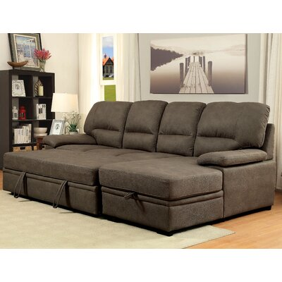 Darby Home Co Lynchburg Sleeper Sectional