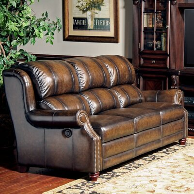 Darby Home Co Charndon Dual Leather Power Reclining Sofa