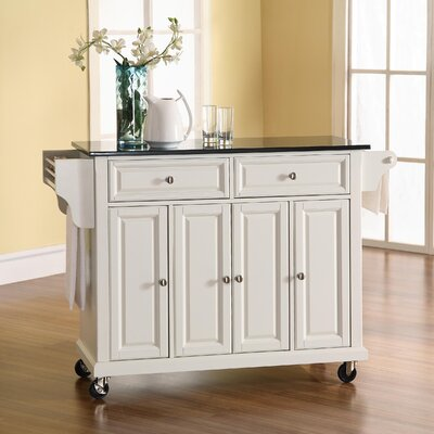 Darby Home Co Pottstown Kitchen Island with Granite Top